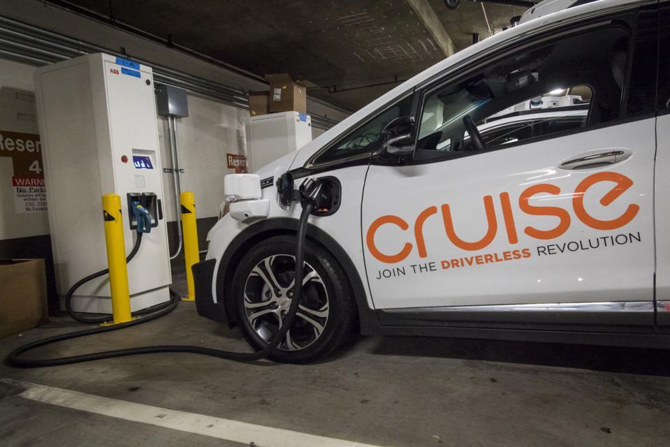 General Motors Installs Charging Stations For Cruise Self-Driving Fleet