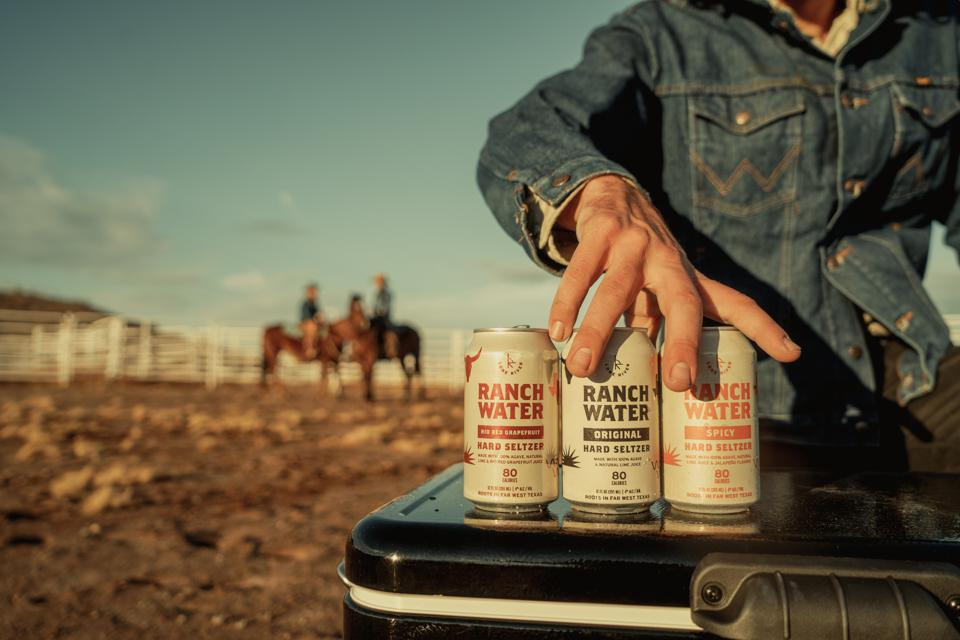 Cans of Lone River Ranch Water