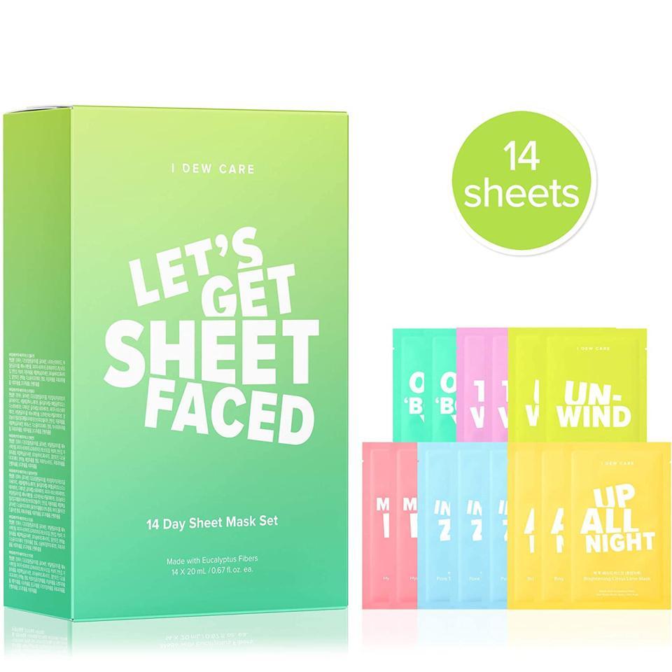 I Dew Care Let's Get Sheet Faced Face Sheet Masks (Set of 14)