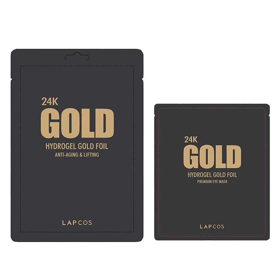 LAPCOS 24K Gold Foil Face & Eye Mask Duo (Set of 2)