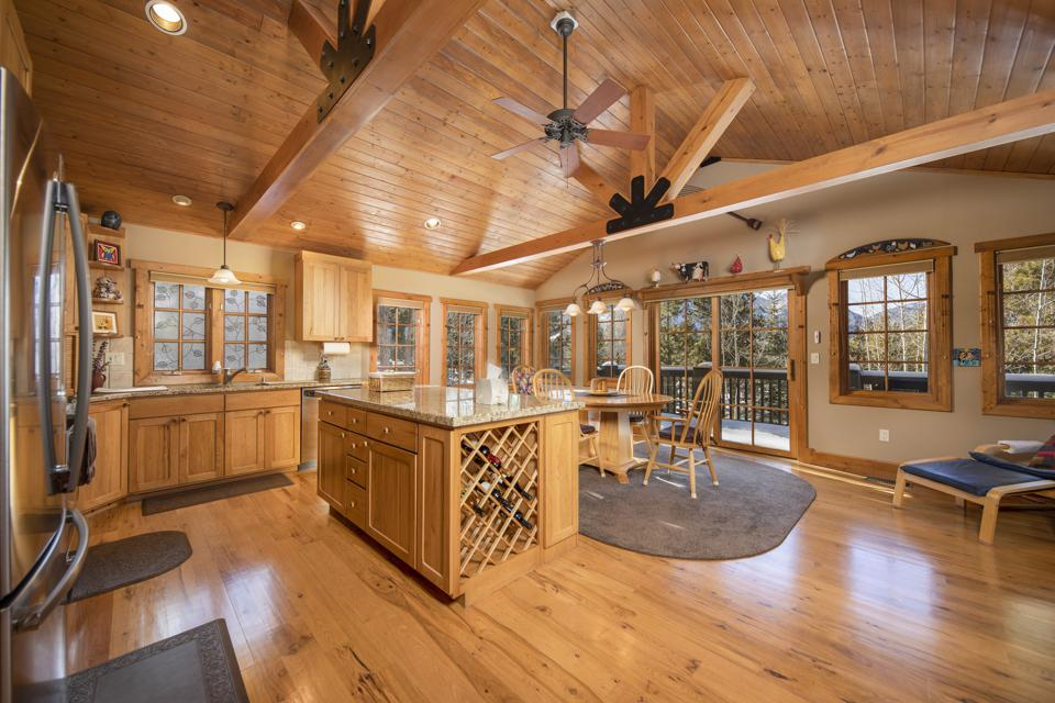 kitchen inside frisco, colorado home at 555 Water Dance Drive