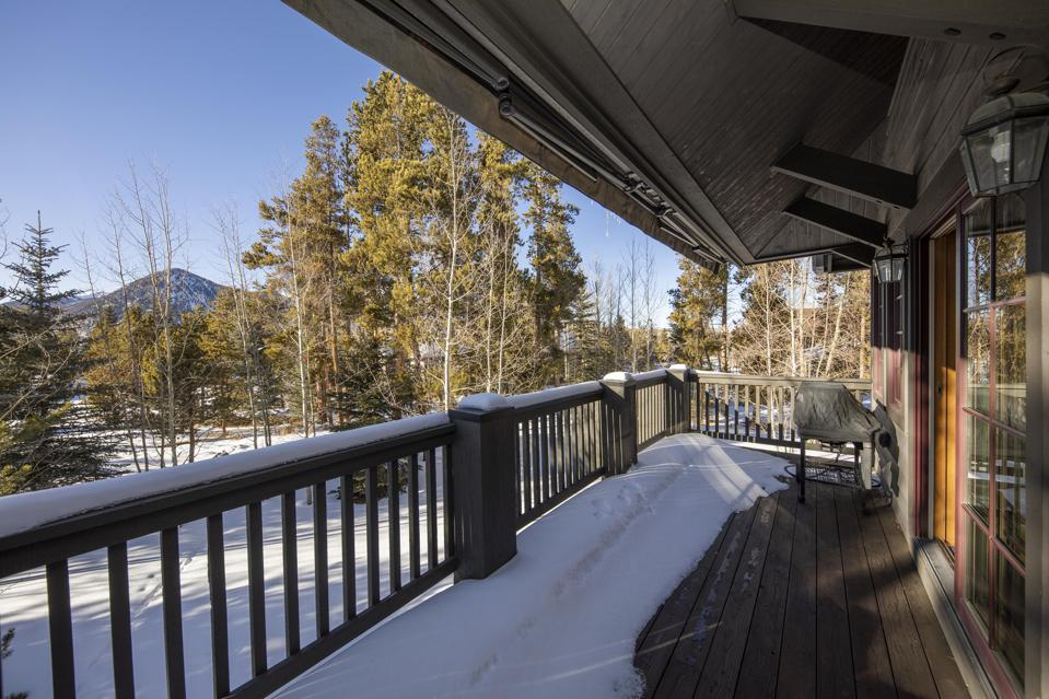 view from the balcony at luxury frisco colorado home at 555 Water Dance Drive