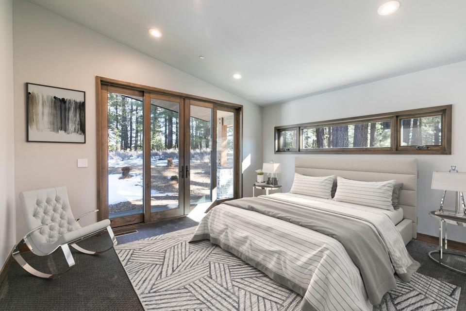 bedroom inside luxury house at gray's crossing truckee california tahoe 11040 Ghirard rd