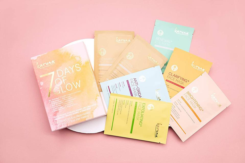 Karuna 7 Days of Glow Face & Eye Mask Variety Pack (Set of 7)