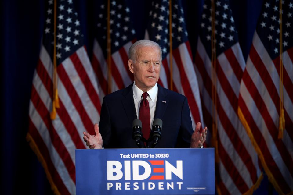 Former US Vice President Joe Biden gives statement on Iran...
