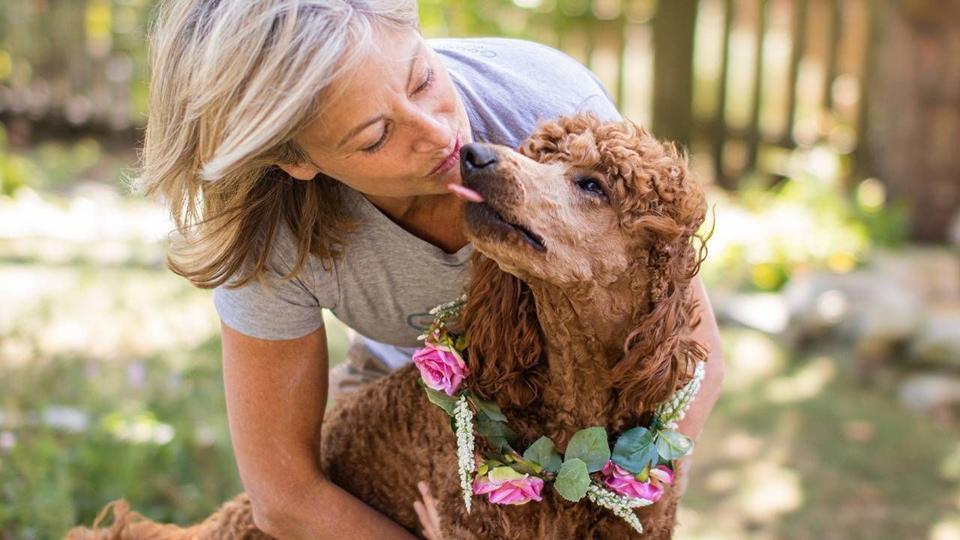 Amy Renz avec son chien