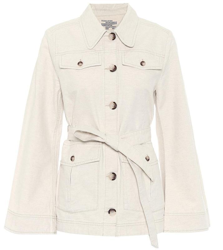 Bianna Belted Cotton and Linen-Blend Jacket by Baum Und Pferdgarten