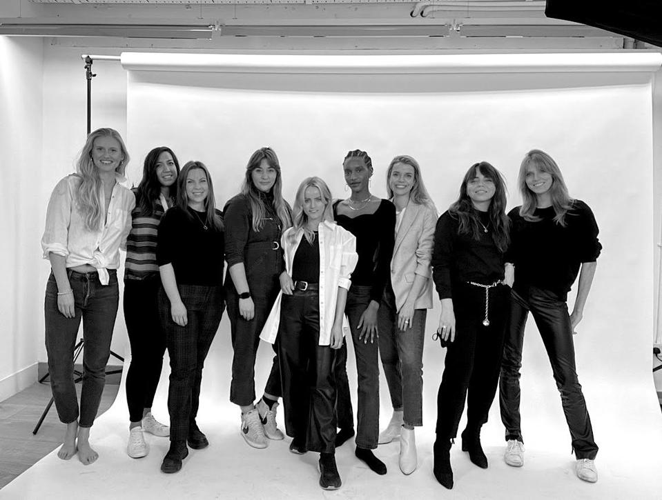The all-female Atelier Romy team in their photography studio