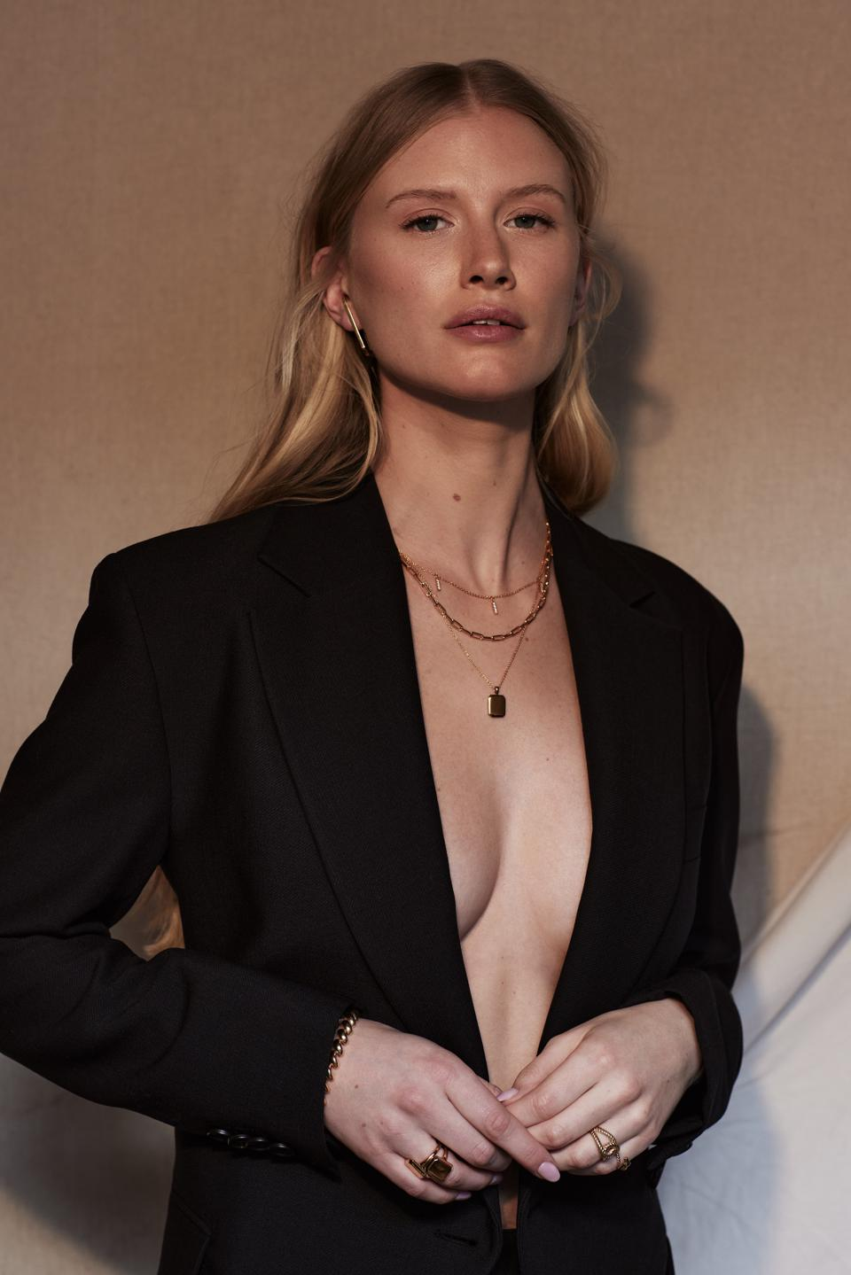Sleek and clean-lined Atelier Romy necklaces and other jewelry.