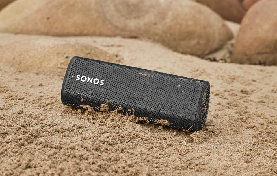 The Sonos Roam is robust enough to sit in the sand (or underwater) without damage.