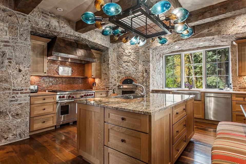 kitchen inside 50 spruce lane luxury home in edwards, colorado