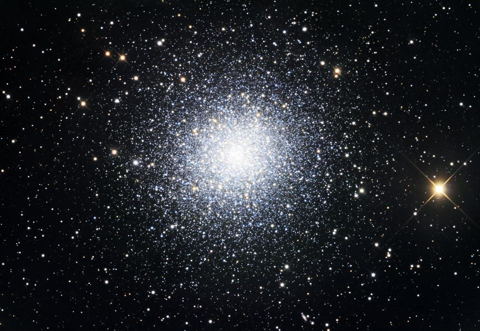The Great Clobular Cluster in Hercules, also known as Messier 13 or NGC 6205, is a globular cluster in the Hercules constellation.