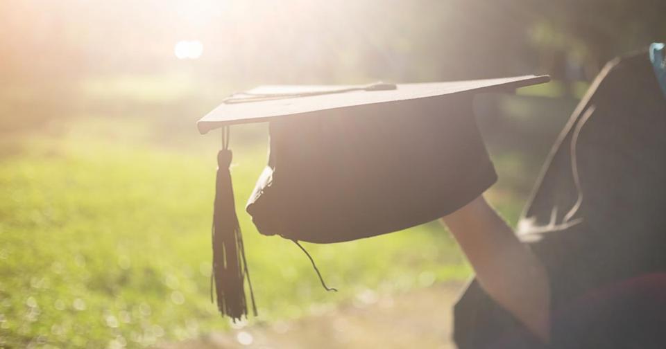 College graduate in the sunlight