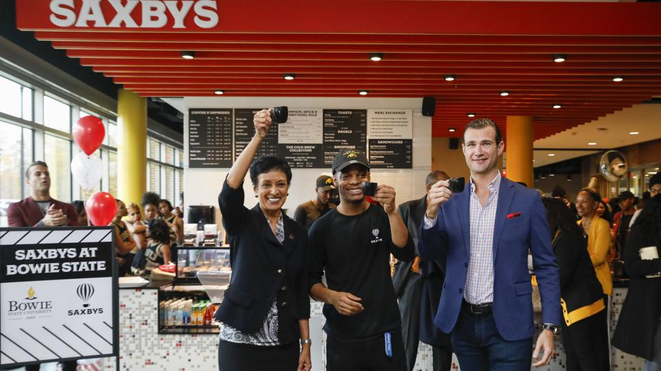 grand opening of Bowie State's Saxbys