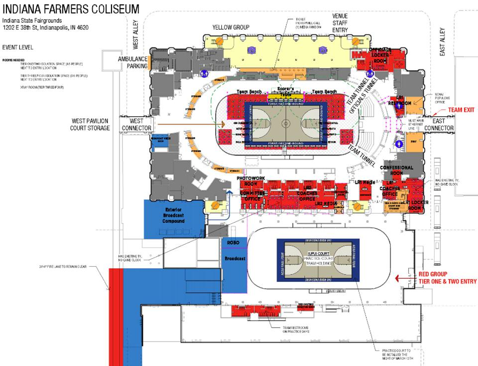 NCAA March Madness logistics