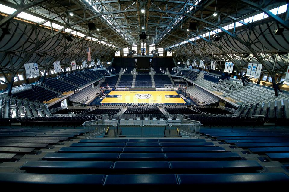 NCAA March Madness logistics Hinkle Fieldhouse