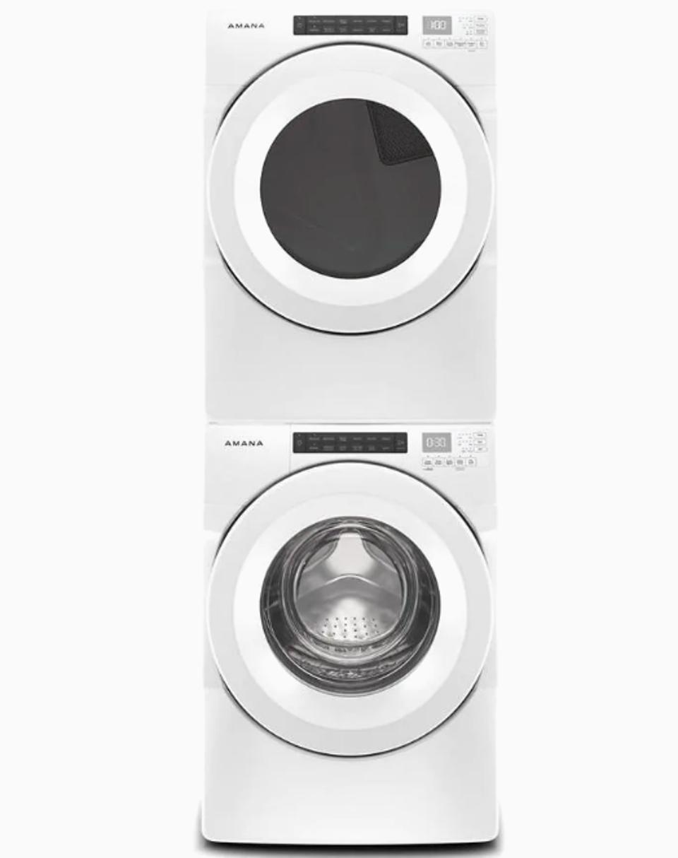 Amana High Efficiency Stackable Front-Load Washer & Dryer Set