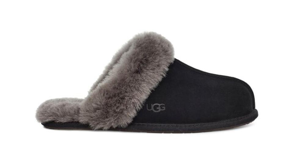The Ugg Scuffette II slipper in black.