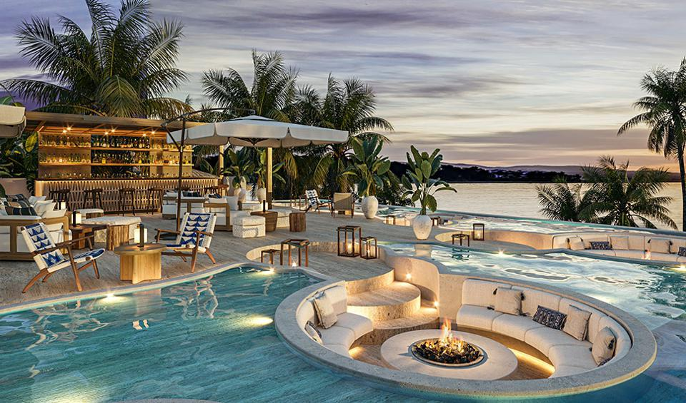 Rooftop pool and lounge