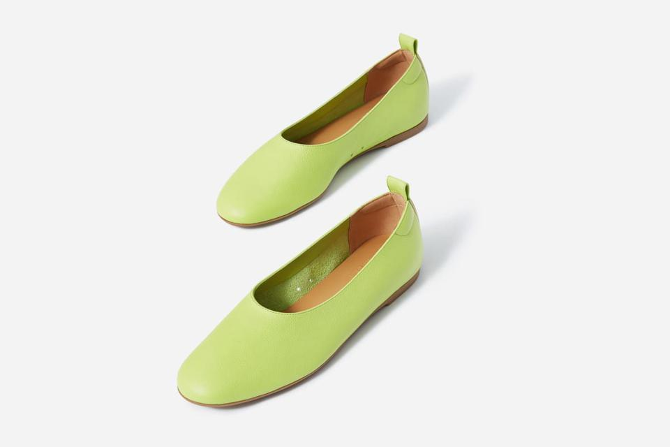 Everlane 'The Italian Leather Day Glove' In Lime