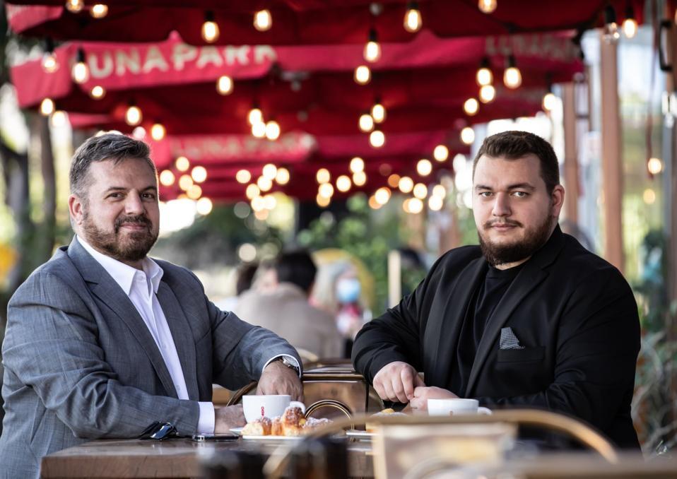 Celal Ozkan and his son, Cagatay Emre Ozkan.