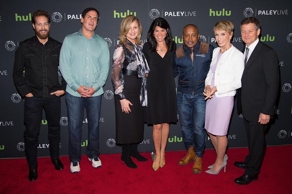 ″Sharks″ Chris Sacca, Mark Cuban, Arianna Huffington, Daymond John and Barbara Corcoran.