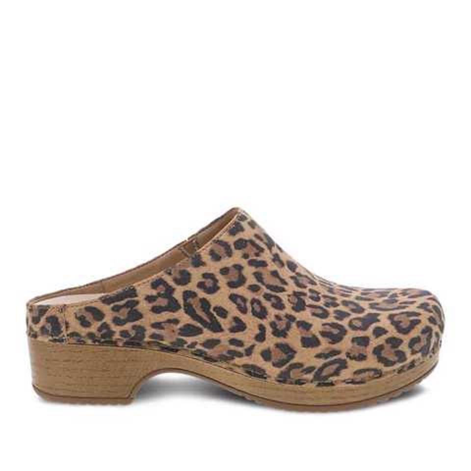 Brenda Leopard Suede