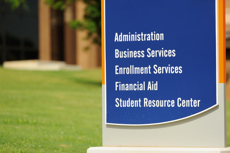 Sign for student related services on campus