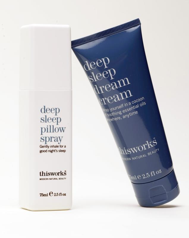 Thisworks Deep Sleep Pillow Spray and Deep Sleep Dream Cream against a white background.