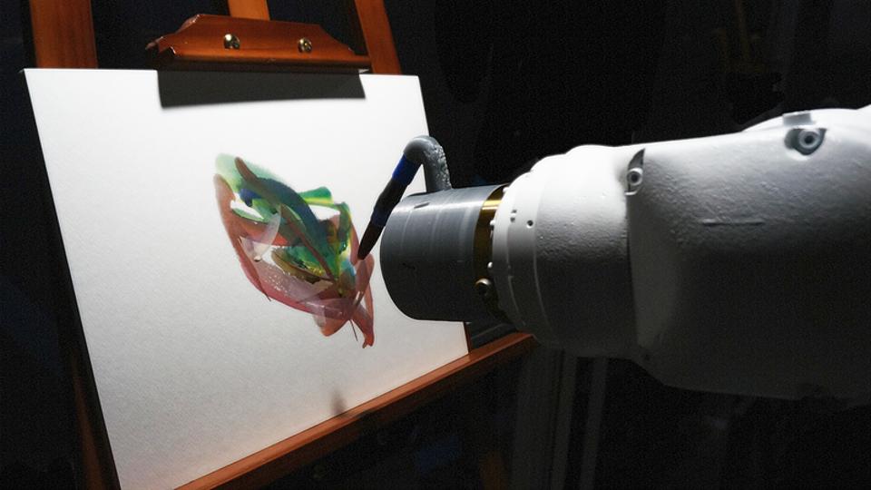 AI painting robot