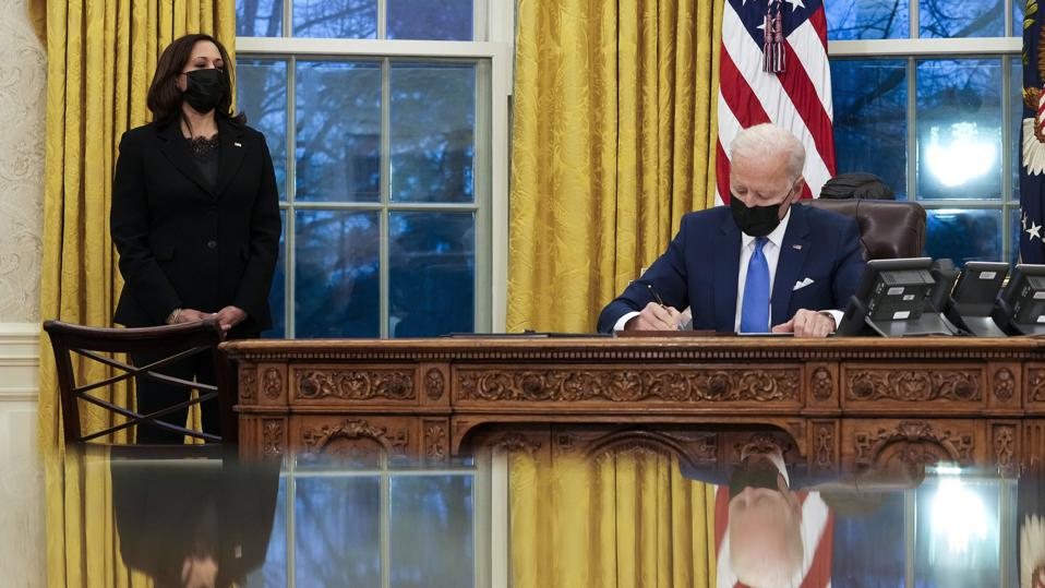 President Biden Signs Executive Orders To Modernize Immigration System. (Photo by Doug Mills-Pool/Getty Images)