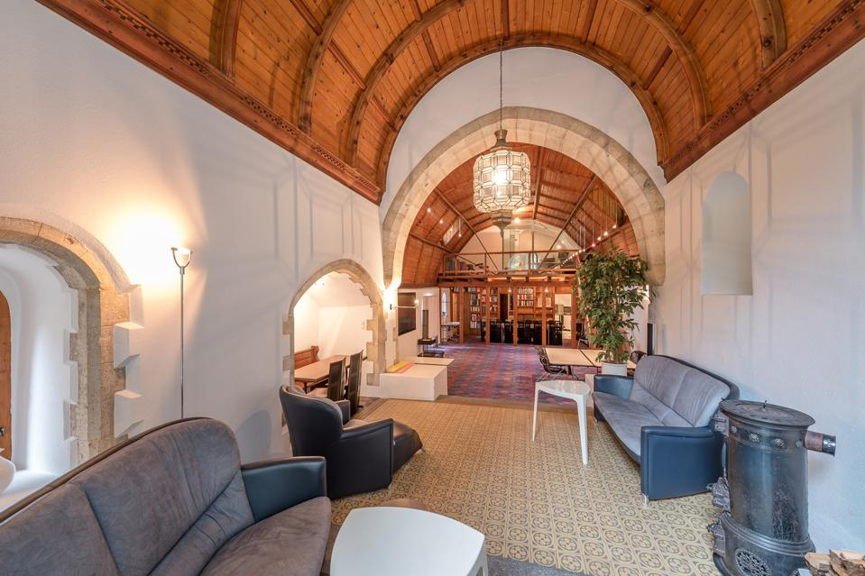 inside a church turned luxury home switzerland scuol architecture
