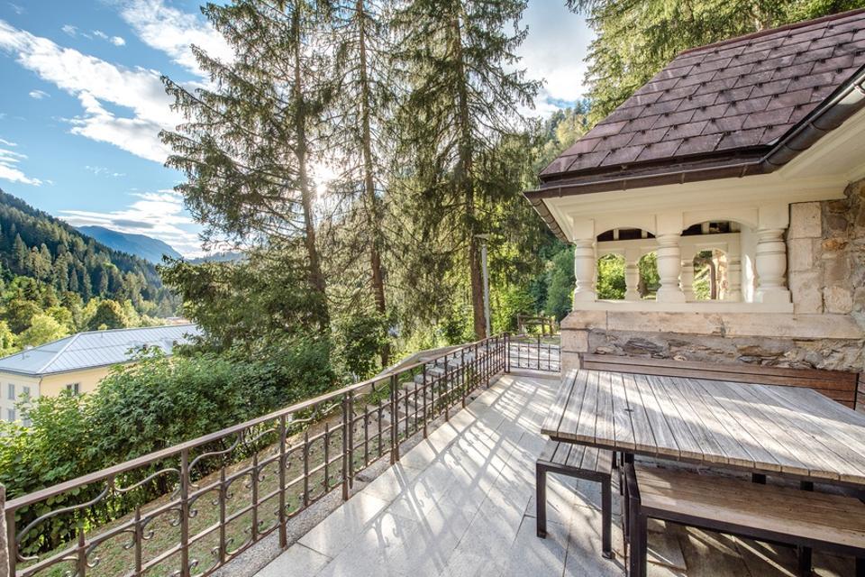 outdoor decking church luxury home in switzerland