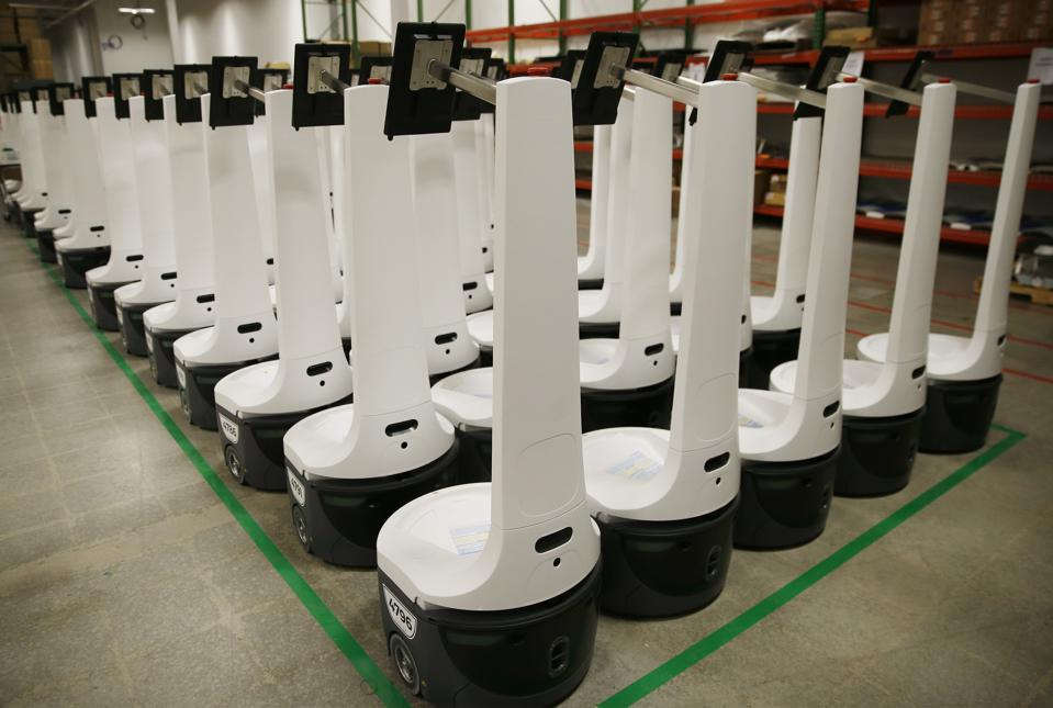 An army of Locus Robotics' ″LocusBots″ that automate warehouses