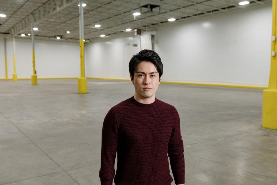 Hiroki Goda, CEO of Oishii, which grows strawberries in a high-tech, indoor environment.