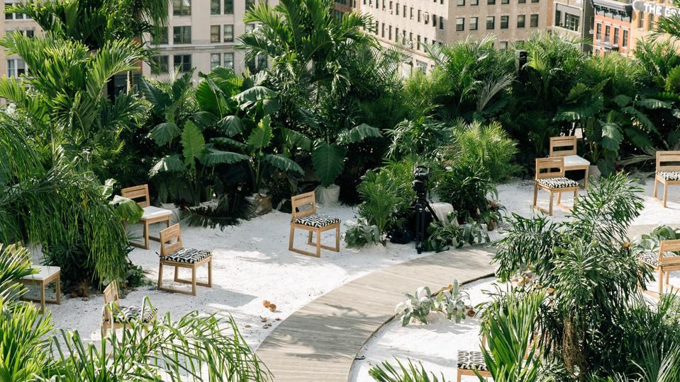 Jason Wu's Tulum themed runway at New York Fashion Week.