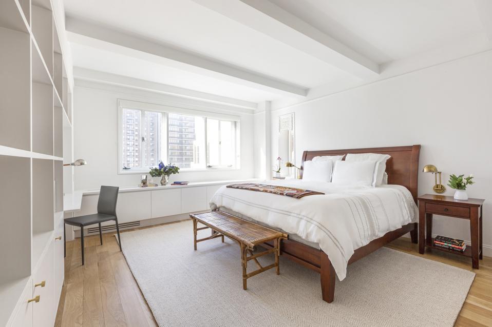 bedroom inside leroy neiman's longtime apartment manhattan hotel des artistes