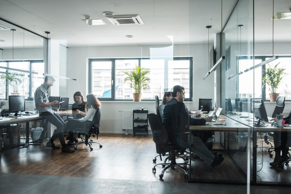 Group of people working in the office