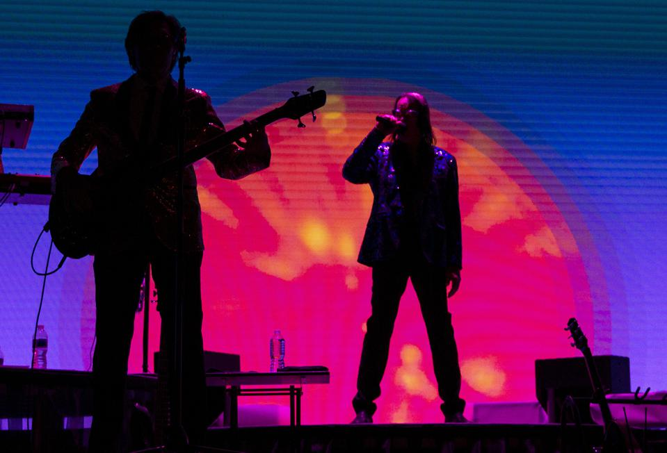 Todd Rundgren on stage with his band during rehearsals for the ″Clearly Human″ virtual tour. Friday, February 12, 2021 in Chicago, IL (Photo by Barry Brecheisen)