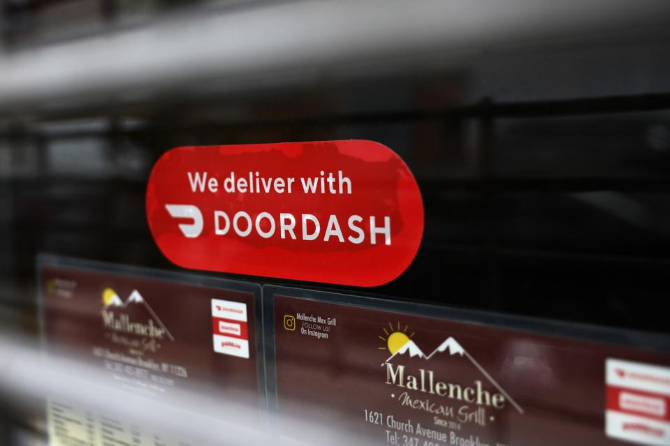 DoorDash delivery sticker