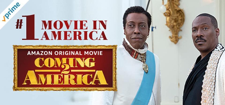 Banner ad promoting Coming 2 America Eddie Murphy
