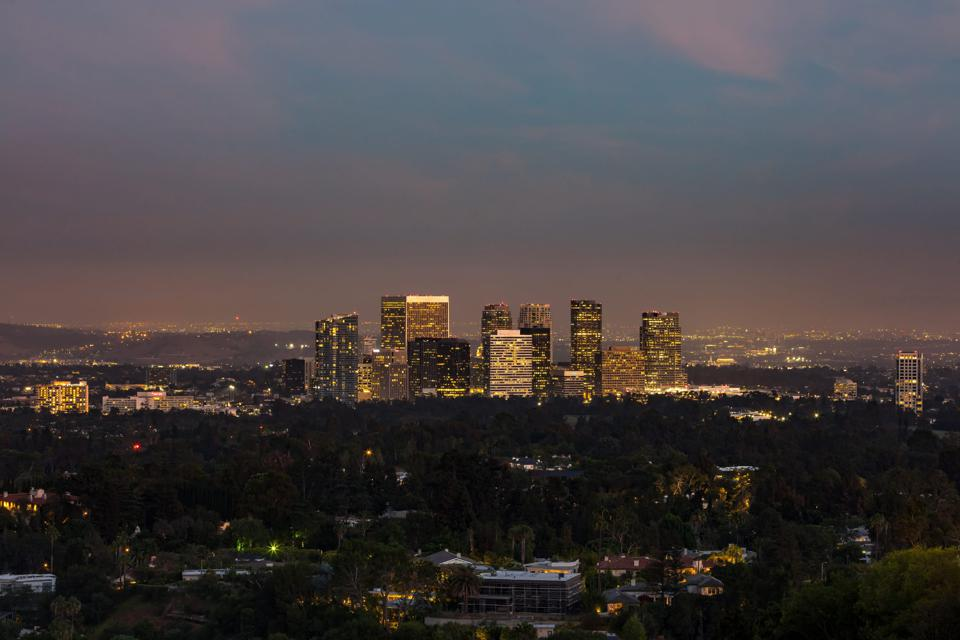 skyline view from falcon lair estate in beverly hills rudolph valentino doris day