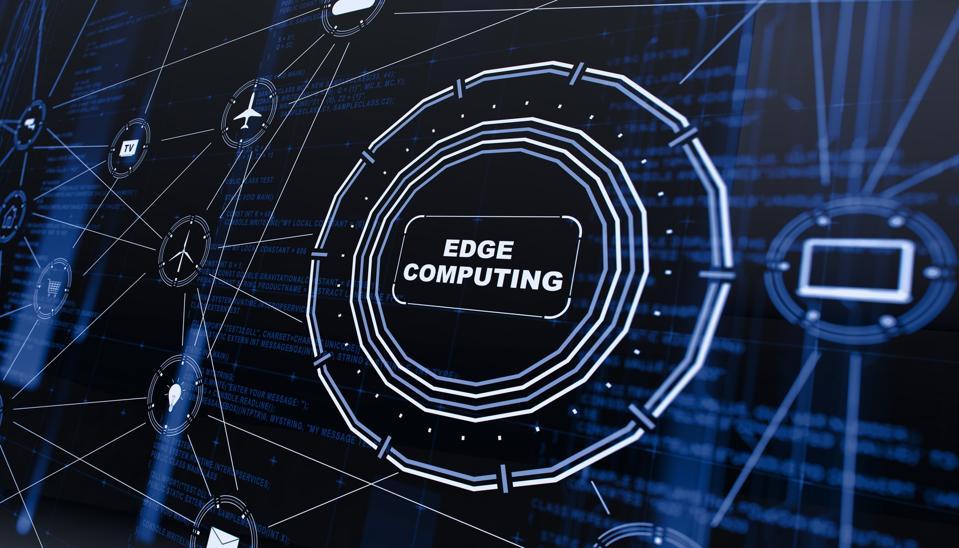 Edge computing digital background