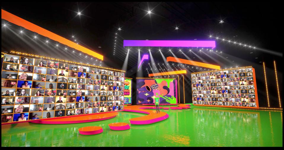 Stage rendering of the 2021 Nickelodeon's Kids' Choice Awards.
