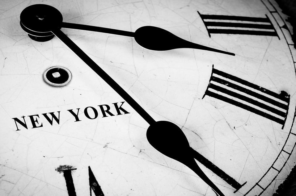 Cadran noir et blanc de New York