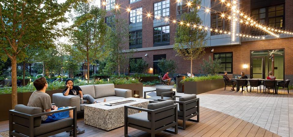 The Smith outdoor patio.