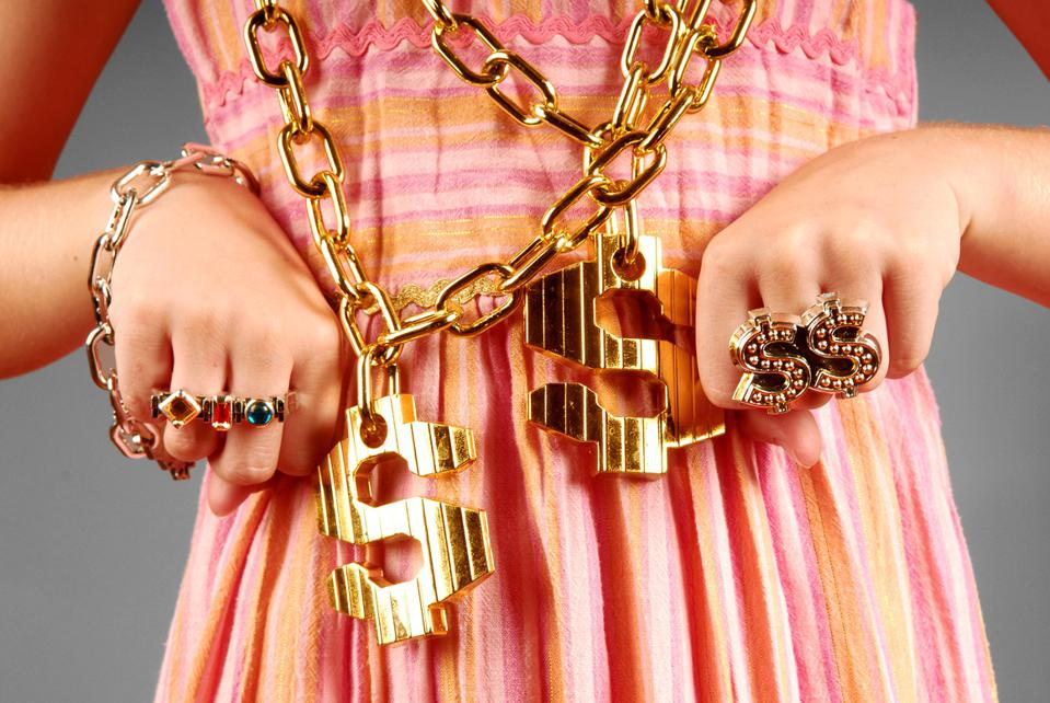 Young Girl Wearing Hiphop Jewelry