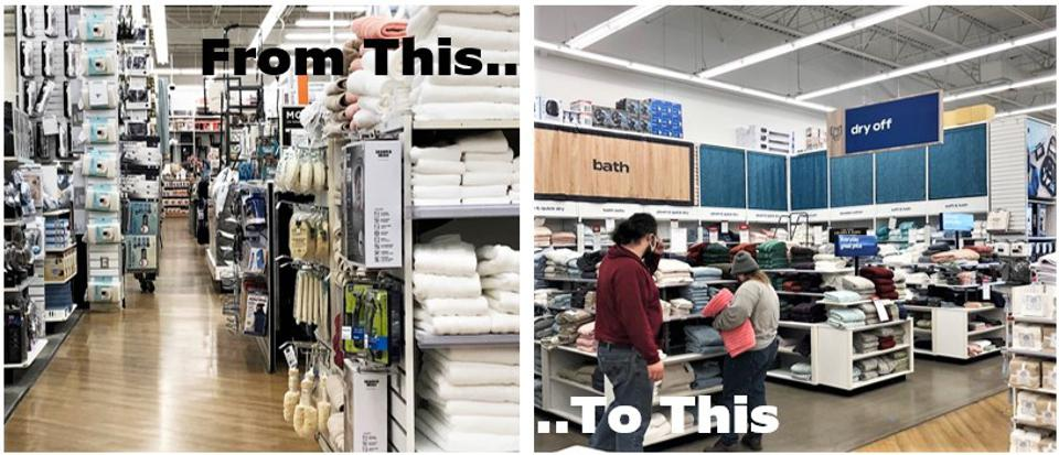 BB&B's store remodel leans heavily on a clear signage system, and a 30% reduction in SKUs