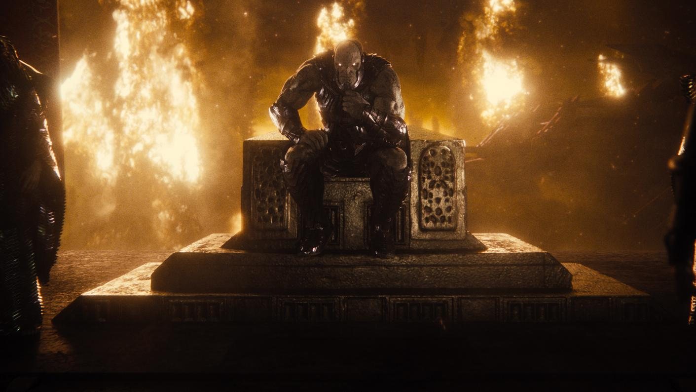 Darkseid partakes in a fireside chat in Zack Snyder's 'Justice League'