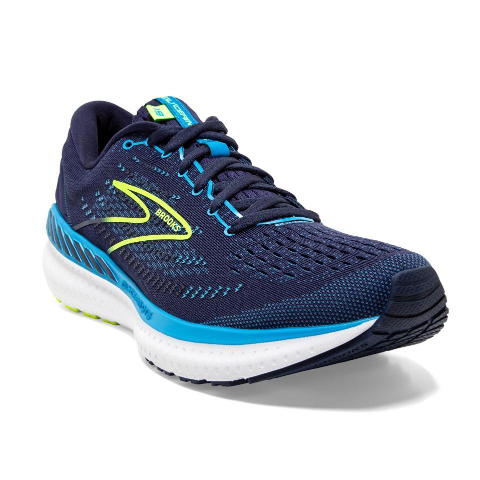 Brooks Glycerin GTS 19 running shoe in navy blue.